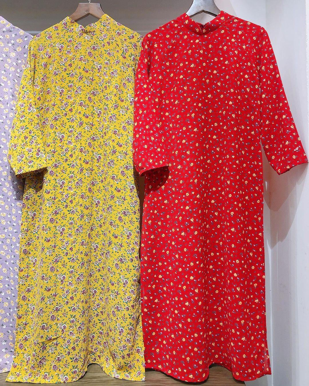 Áo dài đỏ của local brand: Giá từ 650K, chất với dáng đều đẹp lung linh để diện Tết - Ảnh 1.