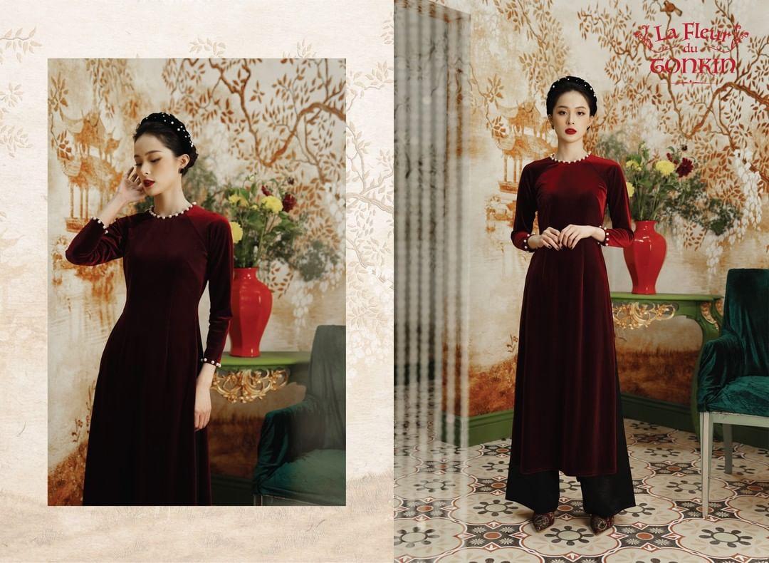 Áo dài đỏ của local brand: Giá từ 650K, chất với dáng đều đẹp lung linh để diện Tết - Ảnh 7.