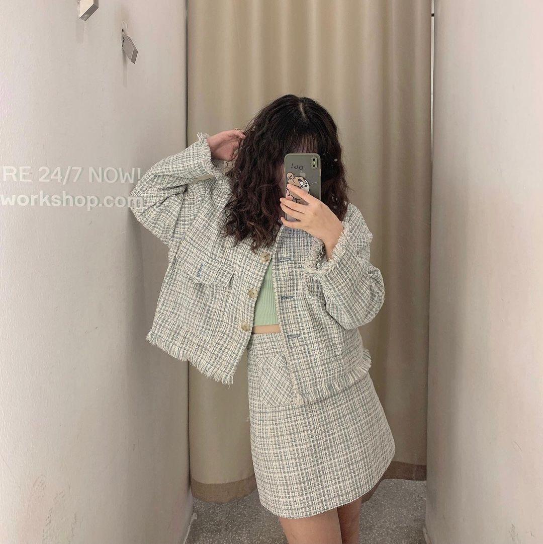Set váy áo vải tweed đang hot rần rần tại các shop, sắm một bộ chơi Tết đi chị em - Ảnh 5.