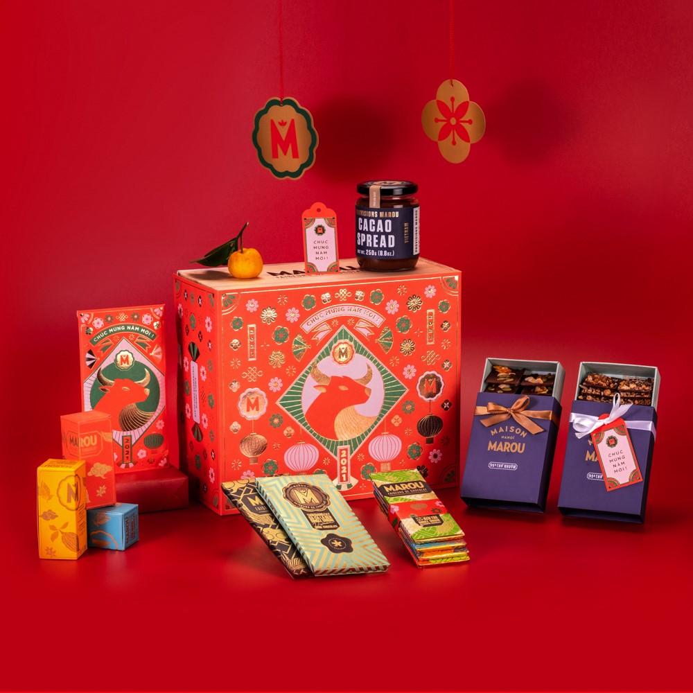 Năm nay nhiều hộp quà chocolate đẹp mắt hết sức, mua biếu Tết ai cũng thích cho xem - Ảnh 4.