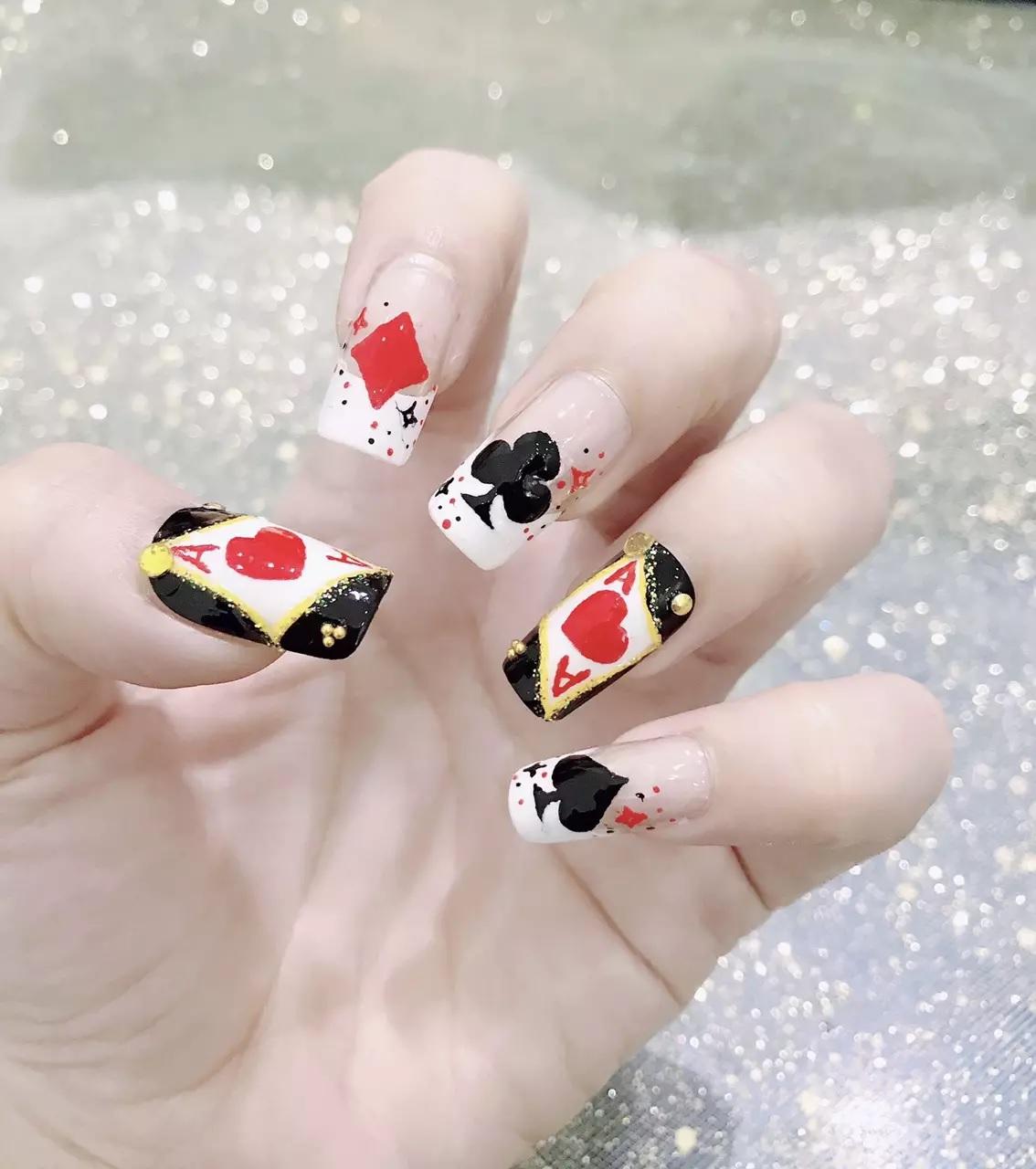 5 mẫu nail dán dành cho người chơi hệ Tết, giá siêu rẻ chỉ từ 8k - Ảnh 4.