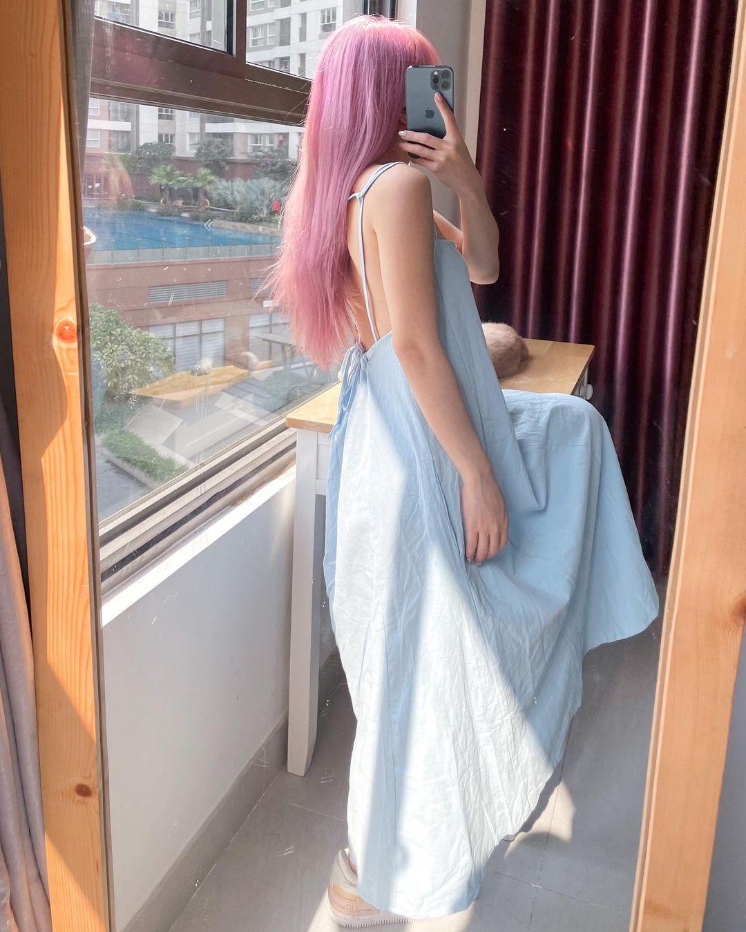 Chỉ từ 240k sắm váy hở lưng xinh yêu sexy lại mát rượi chấp hết nắng nóng Sài Gòn - Ảnh 4.