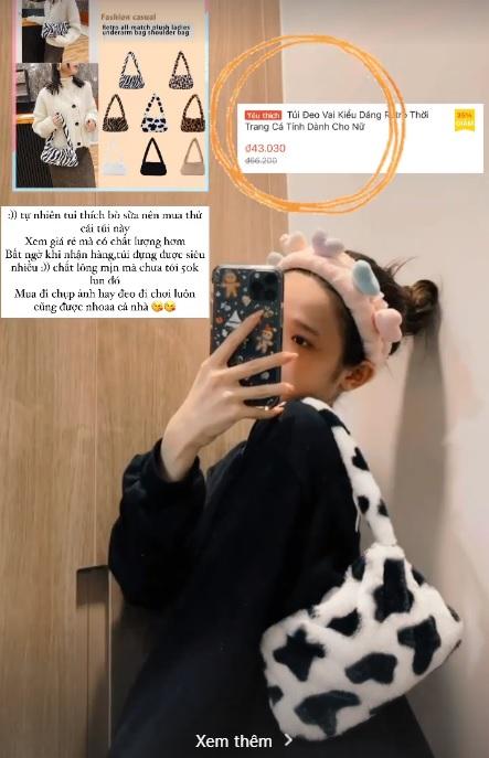 Xoài Non, Linh Ka mách chị em chỗ mua túi rẻ đẹp: Toàn mẫu xinh tươi trendy giá chỉ từ 43k - Ảnh 5.