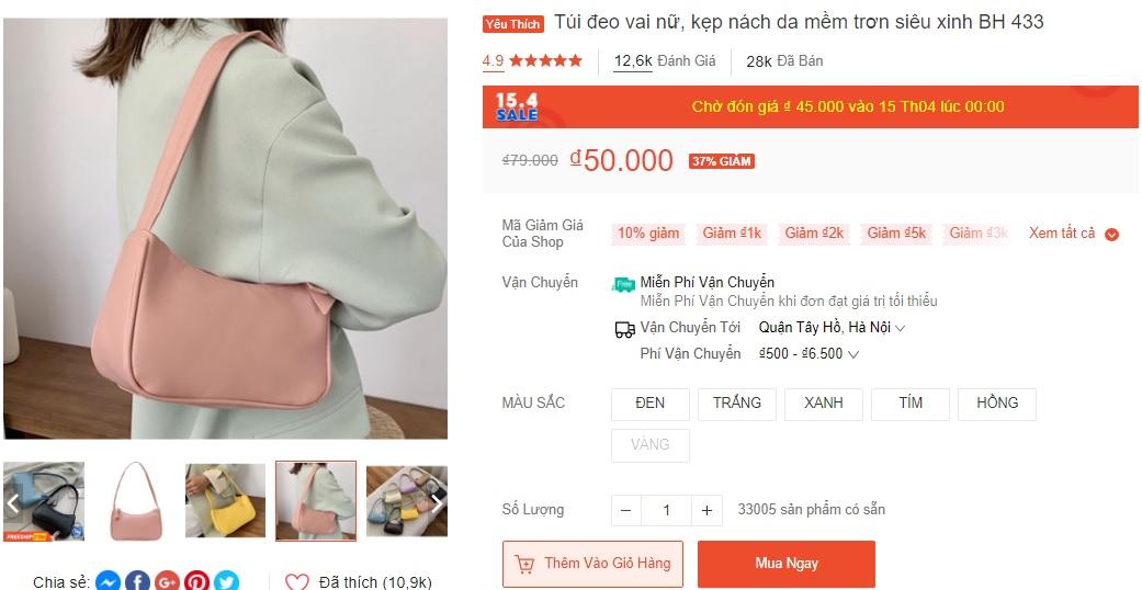Xoài Non, Linh Ka mách chị em chỗ mua túi rẻ đẹp: Toàn mẫu xinh tươi trendy giá chỉ từ 43k - Ảnh 6.
