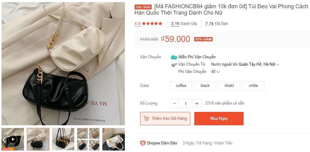 Xoài Non, Linh Ka mách chị em chỗ mua túi rẻ đẹp: Toàn mẫu xinh tươi trendy giá chỉ từ 43k - Ảnh 7.