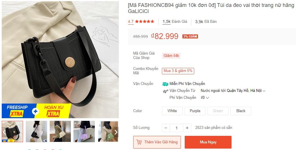 Xoài Non, Linh Ka mách chị em chỗ mua túi rẻ đẹp: Toàn mẫu xinh tươi trendy giá chỉ từ 43k - Ảnh 8.