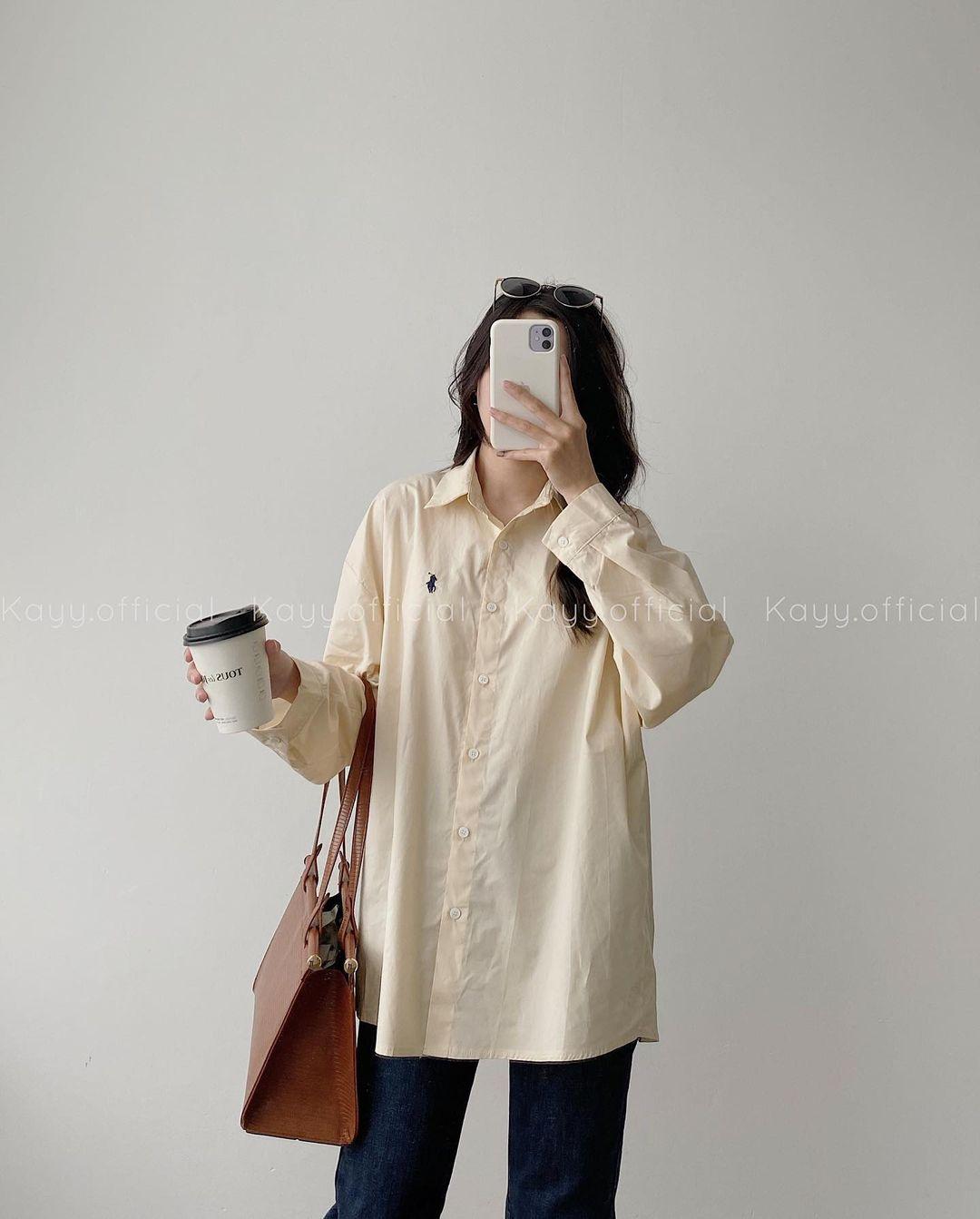 Tổng hợp áo sơ mi oversize đỉnh nhất các shop: Ai muốn style xịn chuẩn Hàn tậu ngay - Ảnh 7.
