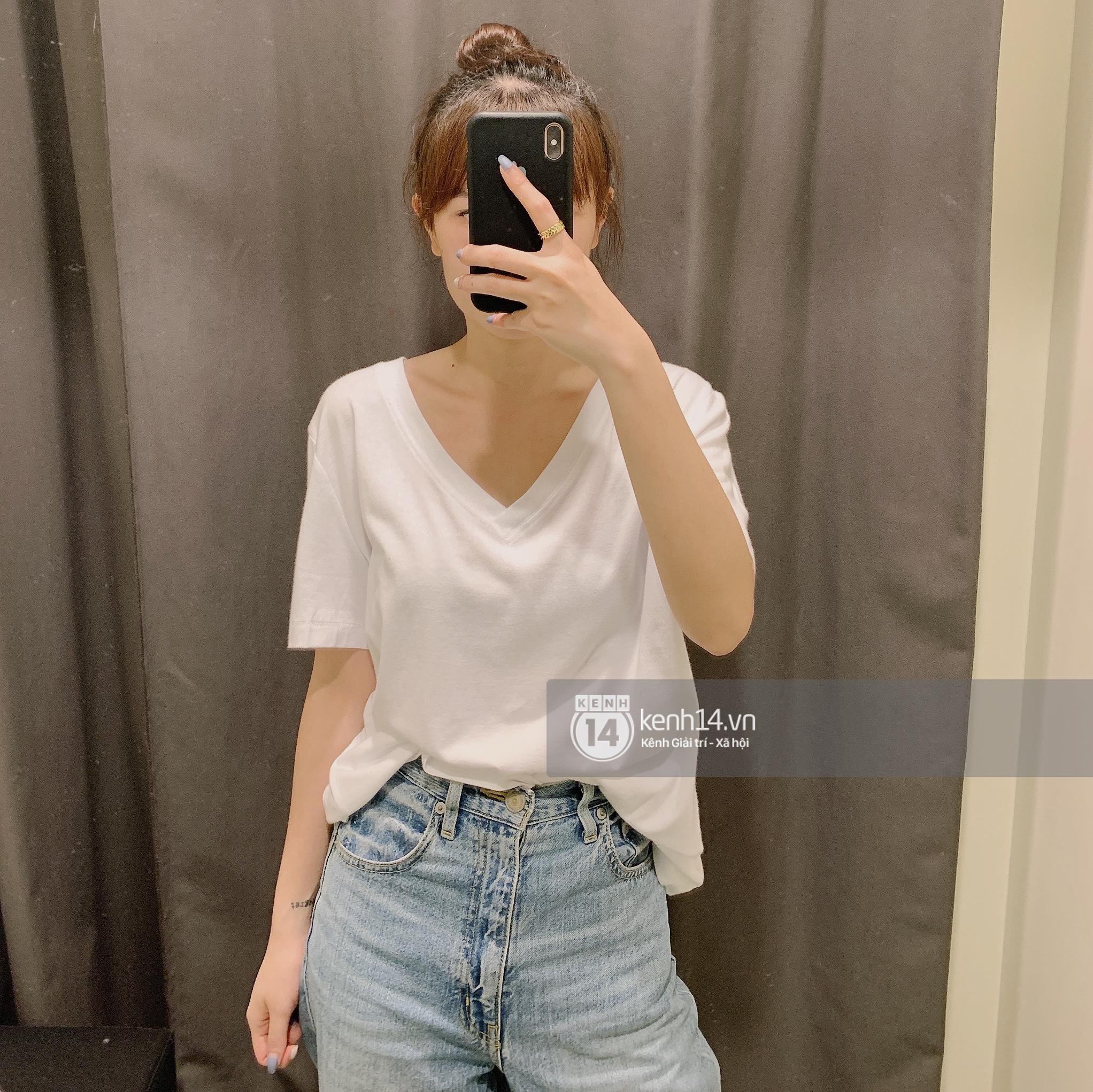 Review thật tâm áo phông trơn ở H&M, Mango, UNIQLO: Giá đều dưới 400K nhưng chất lượng khác nhau thế nào? - Ảnh 4.