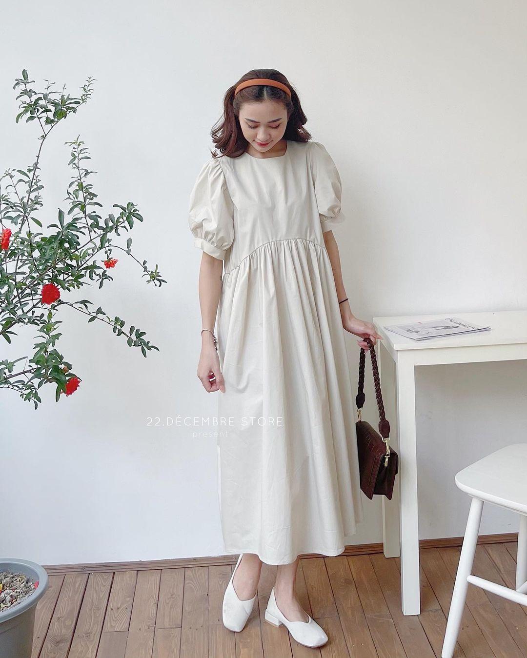 Học ca nương Kiều Anh tậu váy suông oversize giá chỉ vài trăm, mặc mát mà xinh như công chúa - Ảnh 8.