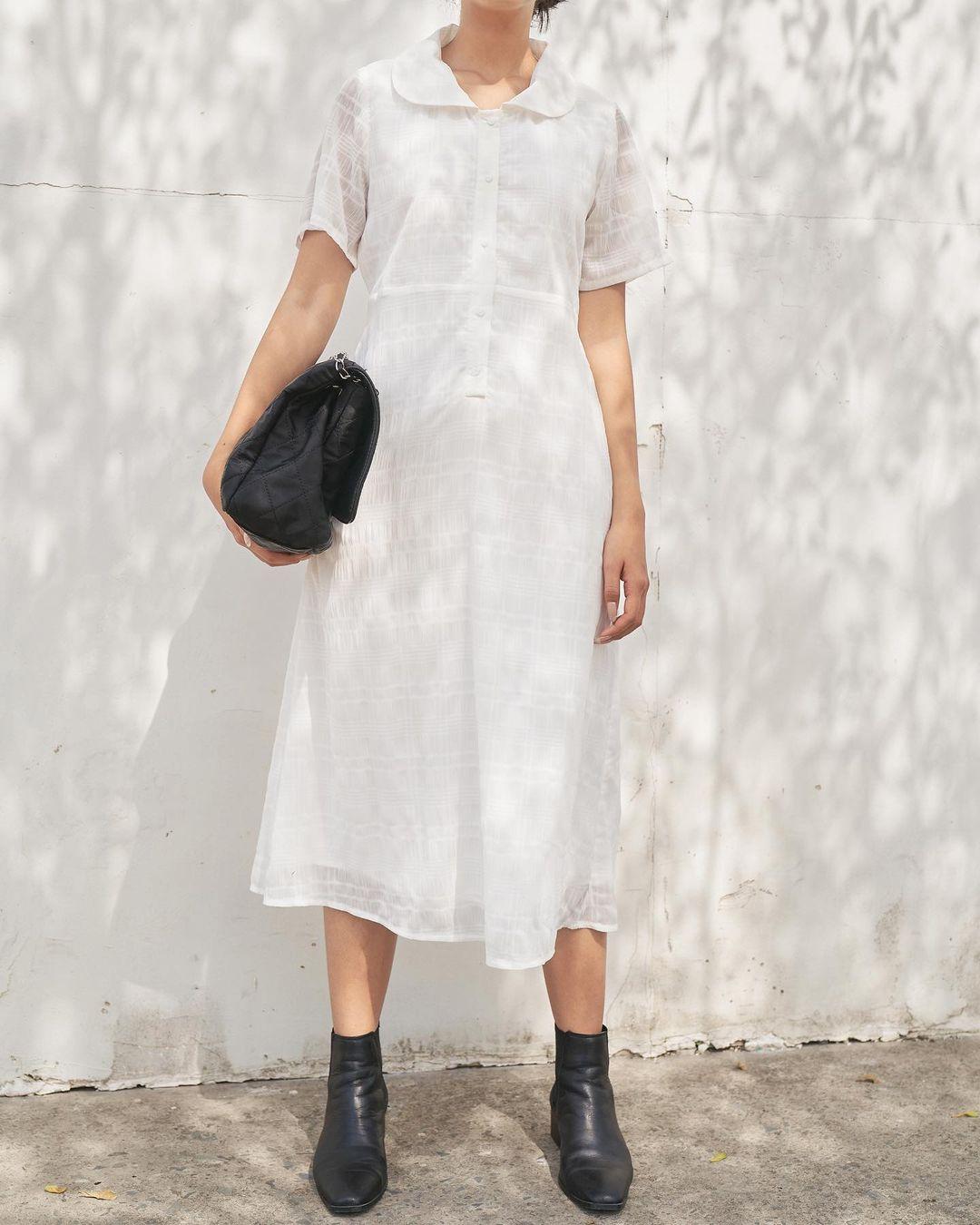 Sắm váy sơ mi rộng rãi mát mẻ mặc lên xinh như gái Hàn đi chị em, giá chỉ từ 180k thôi - Ảnh 7.