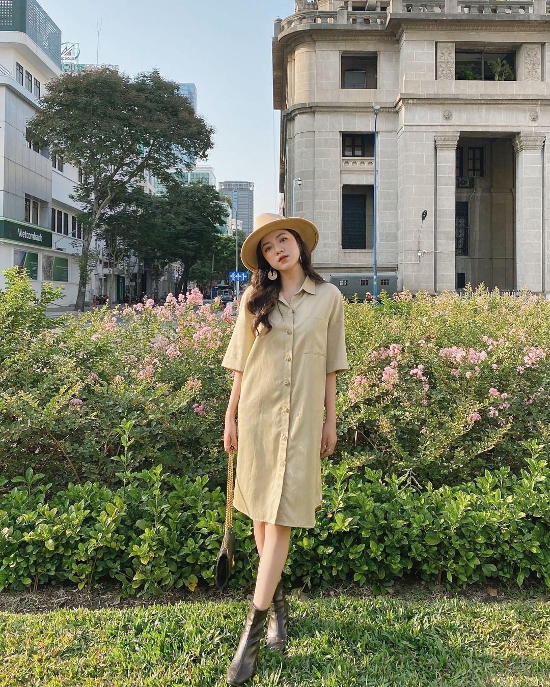 Sắm váy sơ mi rộng rãi mát mẻ mặc lên xinh như gái Hàn đi chị em, giá chỉ từ 180k thôi - Ảnh 8.