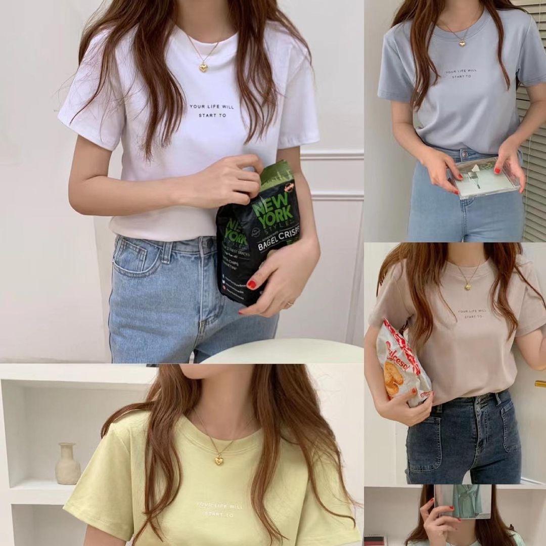 """Tuyển tập áo phông chuẩn style Hàn đẹp nhất tại các shop, chị em """"múc"""" ngay vì giá chỉ từ 150k - Ảnh 2."""
