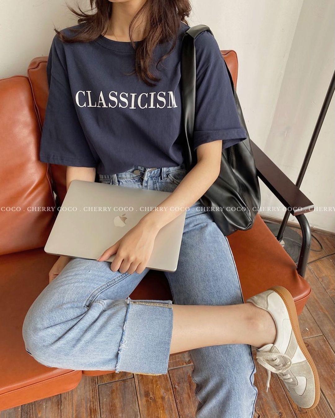 """Tuyển tập áo phông chuẩn style Hàn đẹp nhất tại các shop, chị em """"múc"""" ngay vì giá chỉ từ 150k - Ảnh 7."""