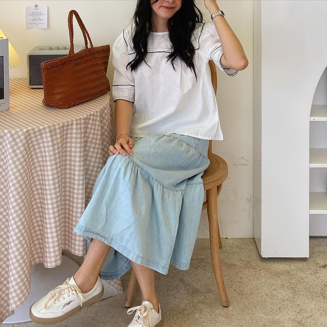 Hè là phải sắm chân váy, nhiều mẫu xinh mát giá chỉ từ 200k cho chị em rước về lắm này - Ảnh 3.
